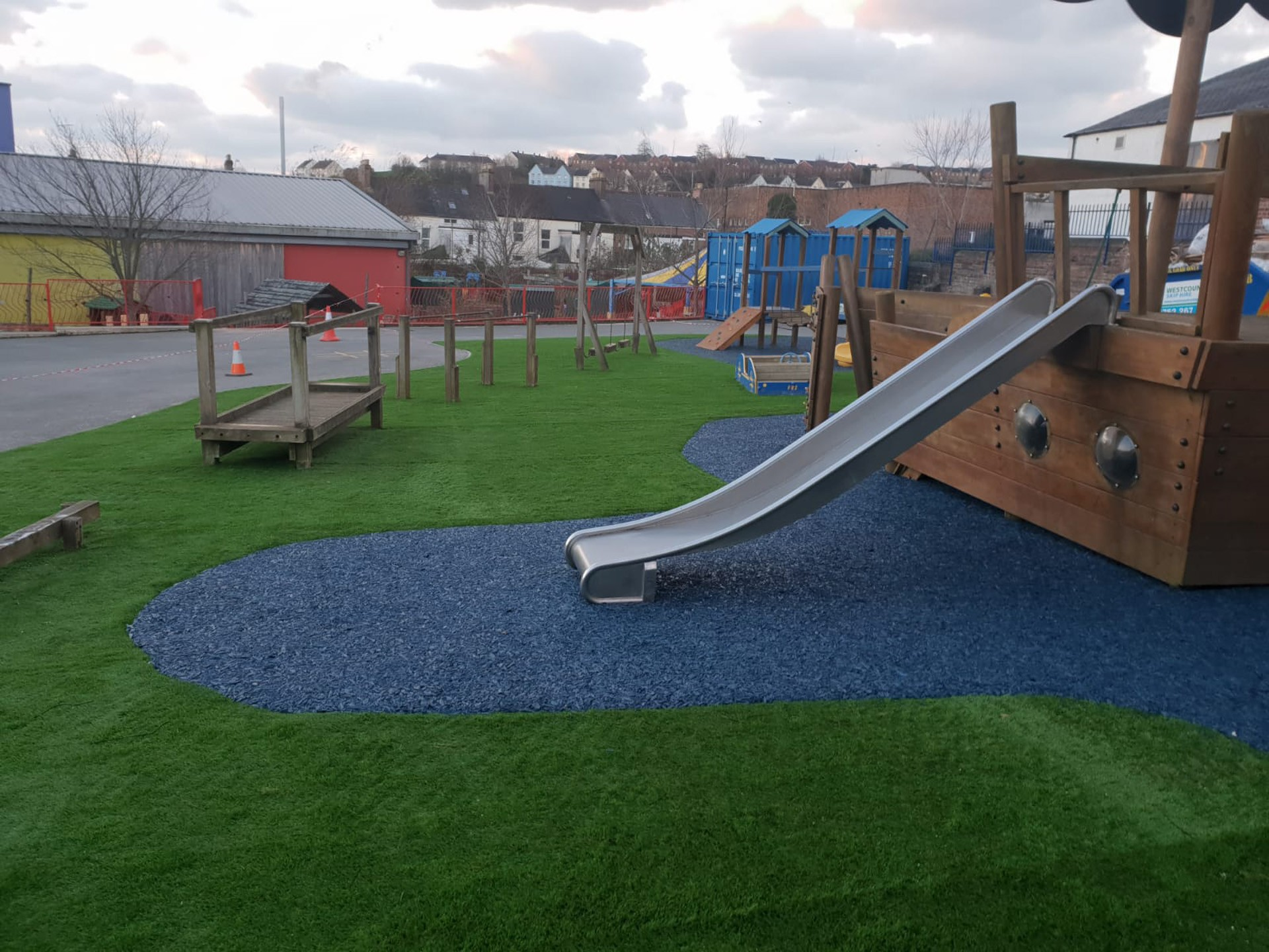 AGI Play Equipment with safety matting