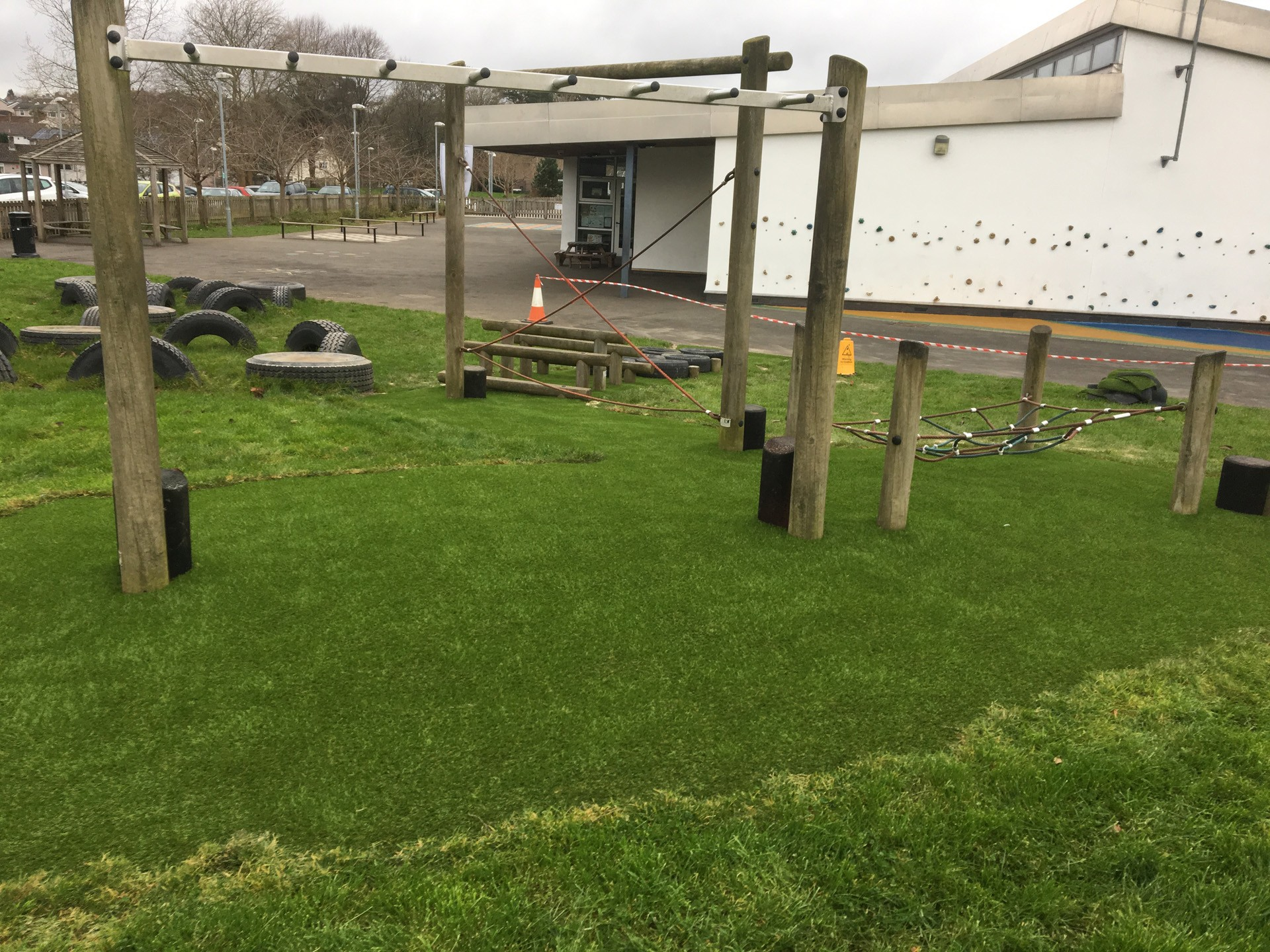 AGI assault courses with synthetic grass