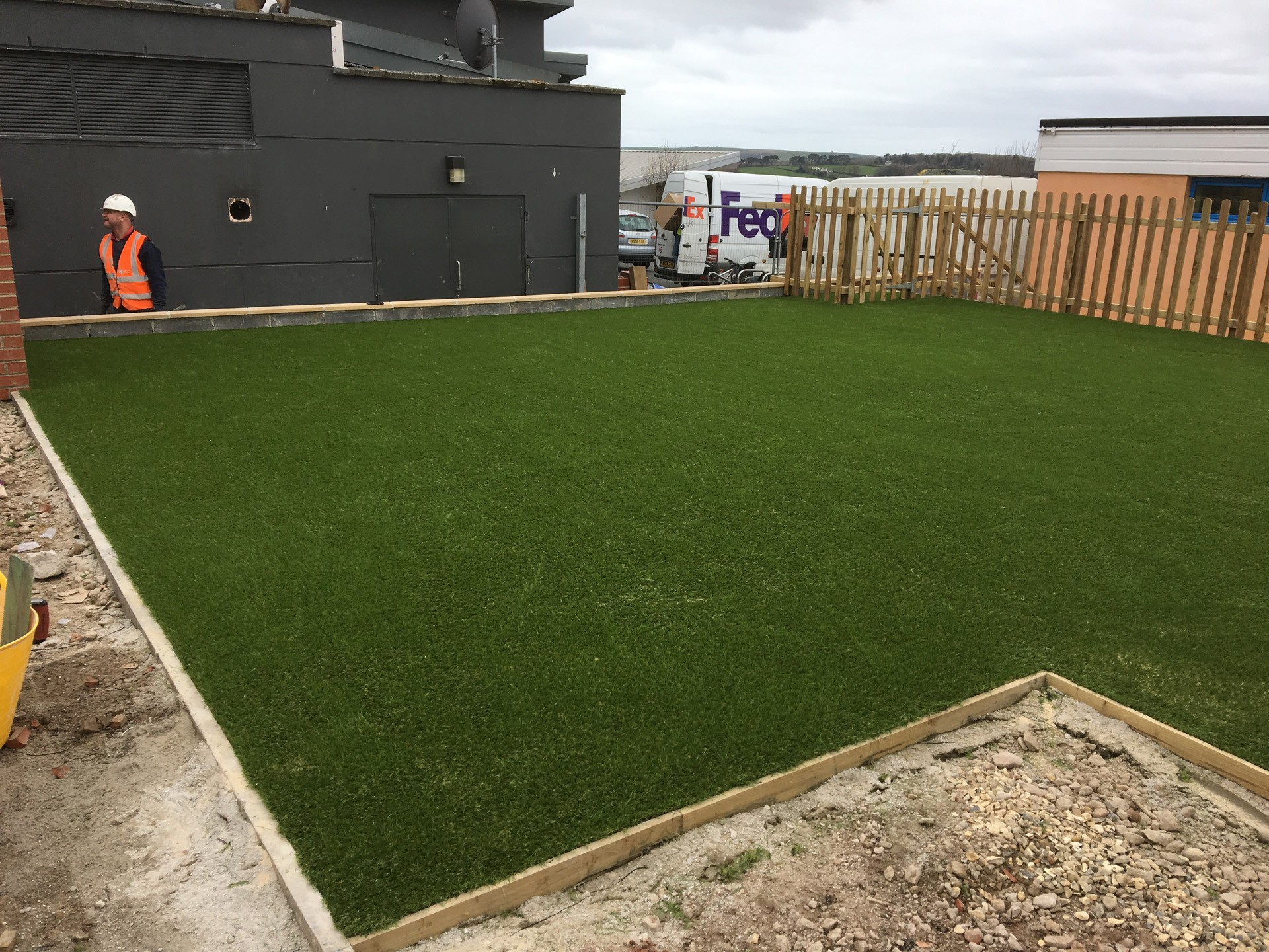 AGI Artificial Grass Installation in Progress