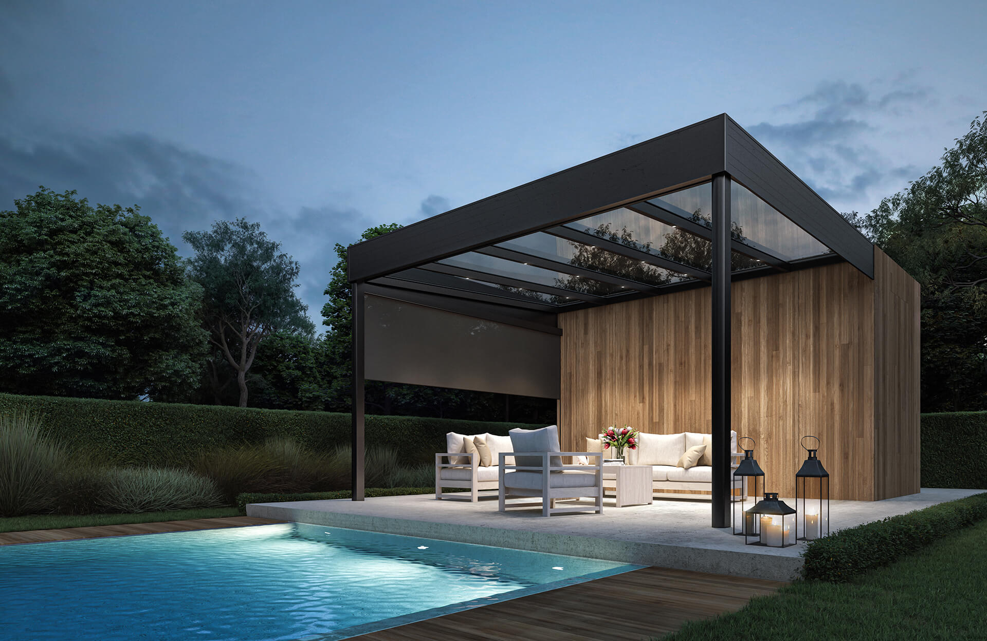 AGI Concepts - Canopies by the pool