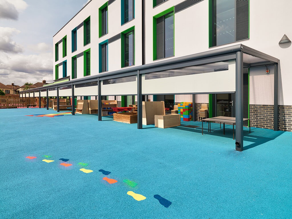 AGI Concepts - Playground safety surface with canopy