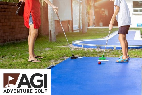 AGI Concepts - AGI Adventure Golf Mini Golf Brown